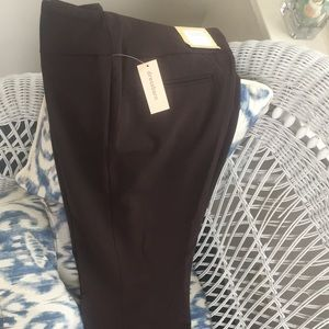 NWT Dress Barn Brown Trousers Slacks